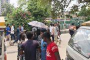 সাত কলেজের শিক্ষার্থীদের অবরোধ চলছে নীলক্ষেতে