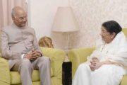 লতার বাসায় ভারতের রাষ্ট্রপতি