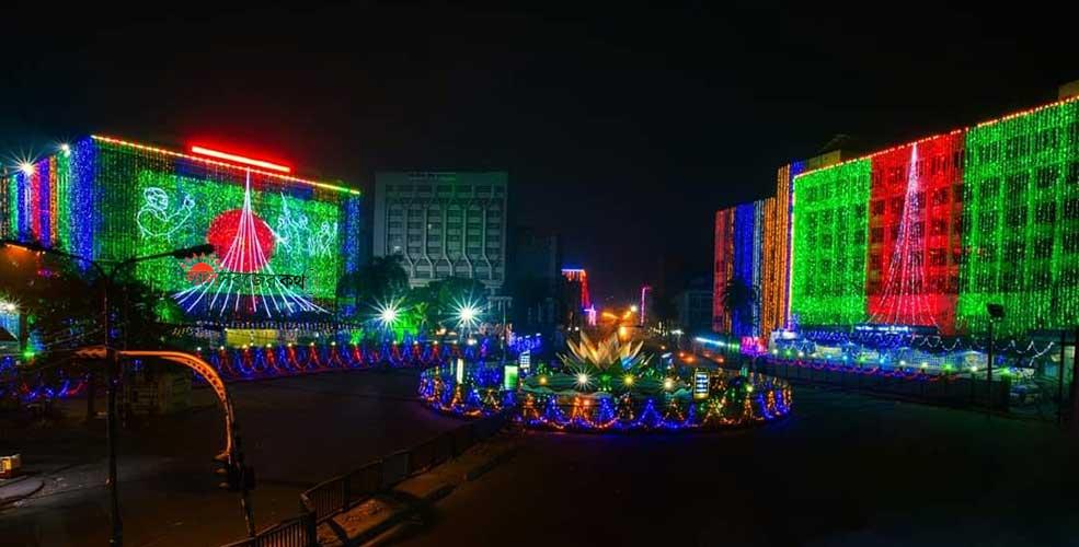 আলোয় ভরা রাজধানী