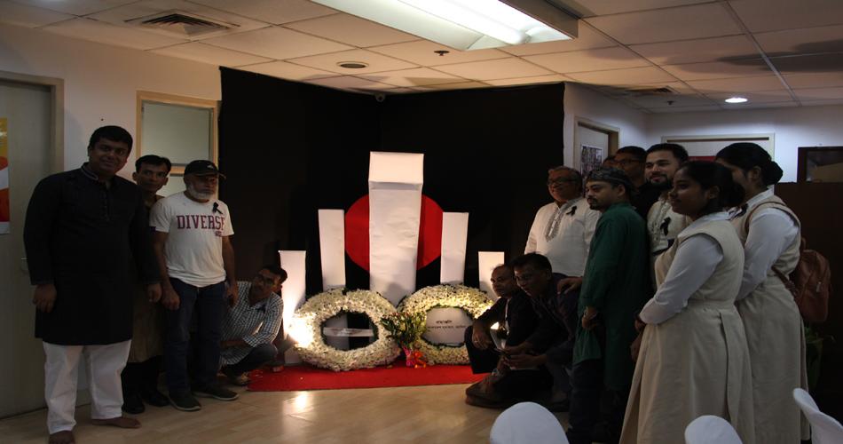ফিলিপাইনের রাজধানী ম্যানিলায় অস্থায়ী শহীদ মিনারে ভাষা শহীদদের প্রতি শ্রদ্ধা জানান রাষ্ট্রদূত এবং অন্যরা