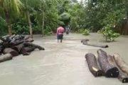 অস্বাভাবিক জোয়ারে নোয়াখালীর বেড়িবাঁধ ভেঙে ৫ শতাধিক বাড়িঘরে পানি
