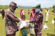 বিজিবি পৌঁছে দিল বিদ্যানন্দের খাবার