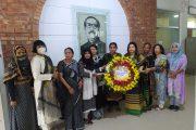 জাতীয় শোক দিবসে জাতির পিতার প্রতিকৃতিতে বানাসাস'র শ্রদ্ধা