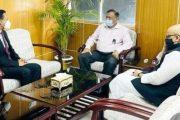 তথ্যমন্ত্রীর সঙ্গে ভারতের নতুন উপহাইকমিশনারের সাক্ষাৎ